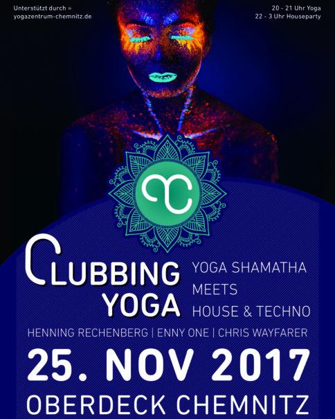 Plakat Clubbing Yoga - Instagram
